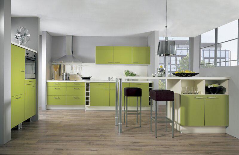 Modello di cucina moderna con penisola n.05