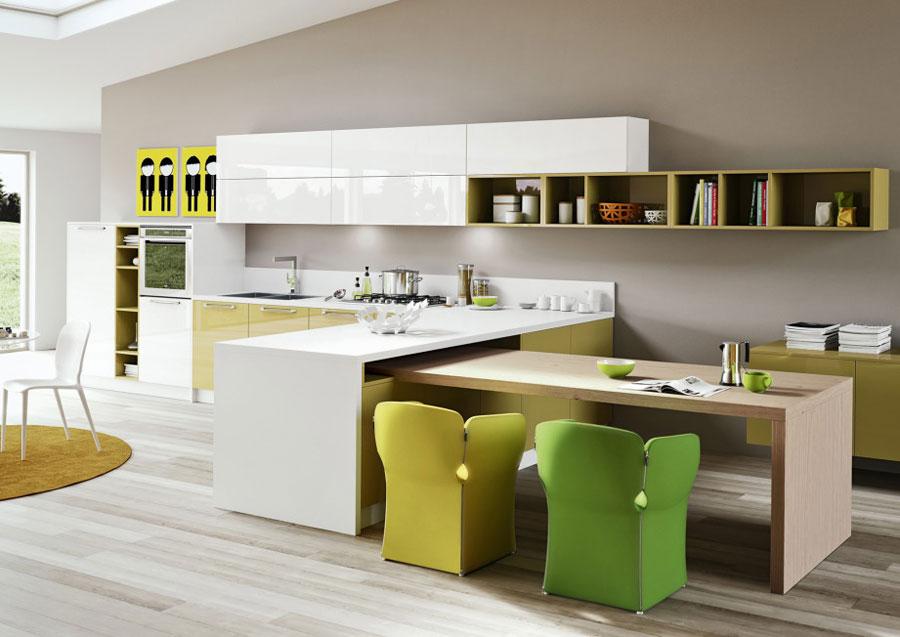Modello di cucina moderna con penisola n.22