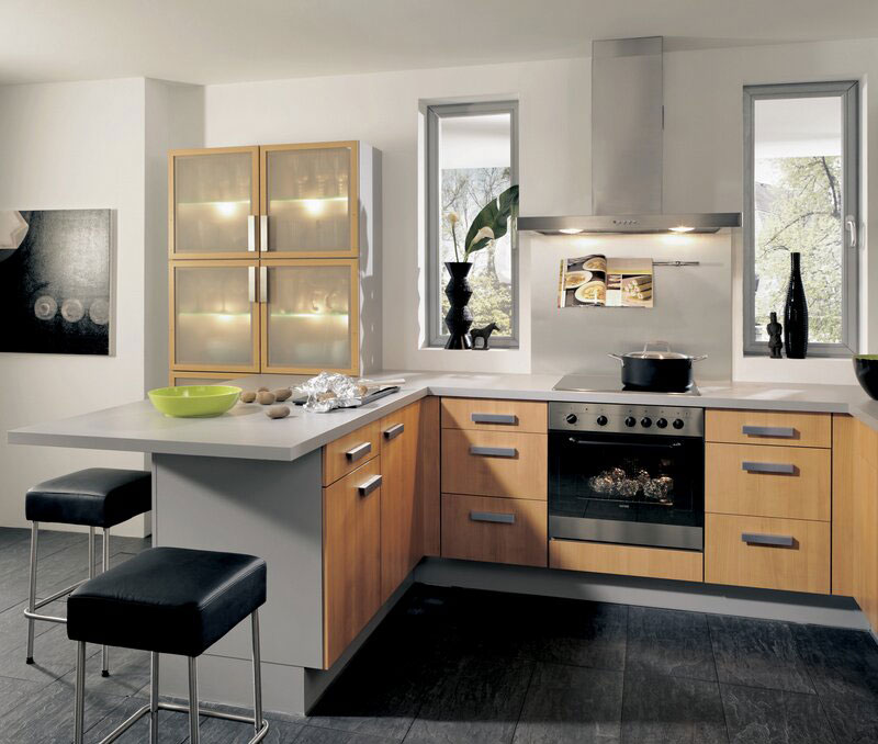 two color kitchen cabinets ideas 50 foto di cucine moderne con penisola mondodesign it 27368