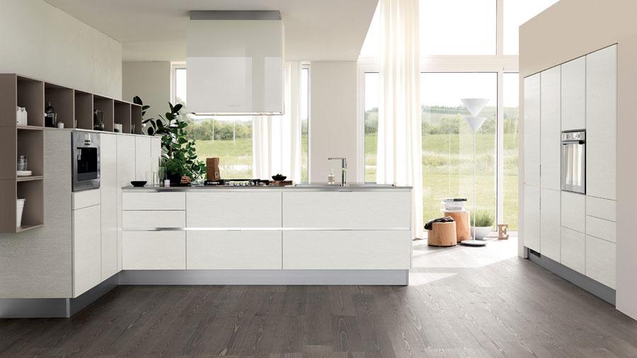 Modello di cucina moderna con penisola n.29