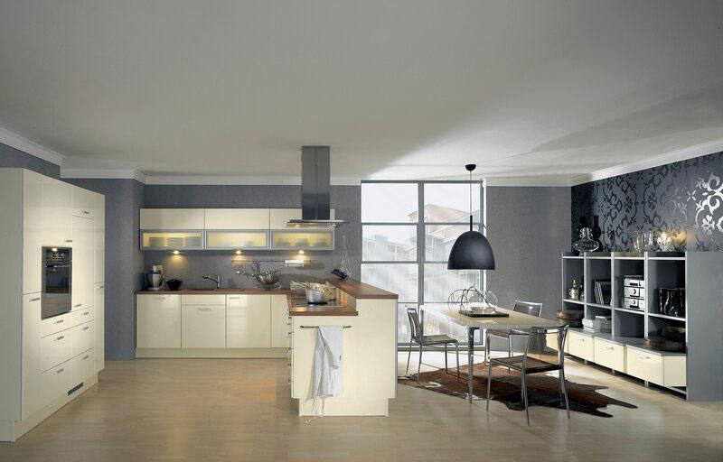 Modello di cucina moderna con penisola n.30