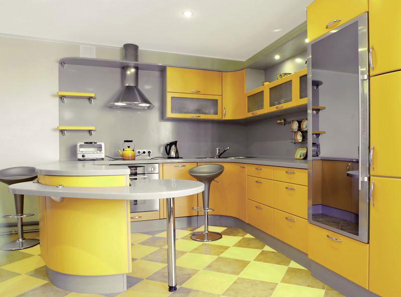 Modello di cucina moderna con penisola n.32