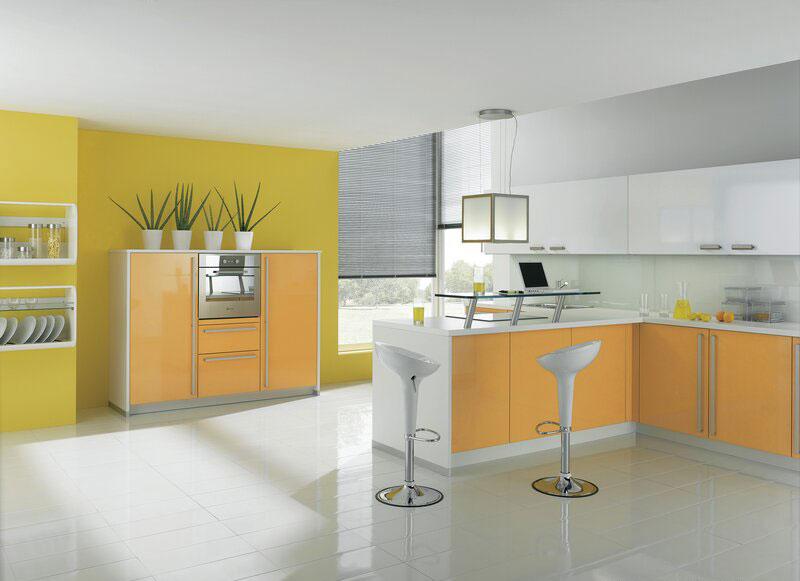 Modello di cucina moderna con penisola n.38