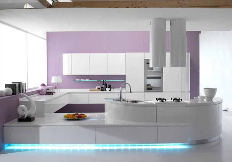 Modello di cucina moderna con penisola n.39