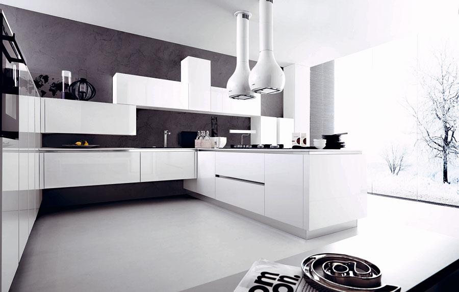50 foto di cucine moderne con penisola - Cucina senza piastrelle ...