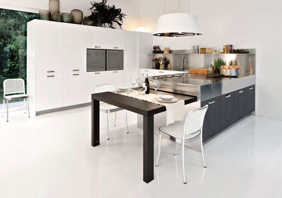 50 foto di cucine moderne con penisola - Cucine ikea con penisola ...