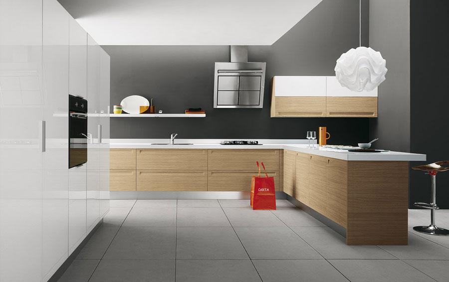 Modello di cucina moderna con penisola n.49