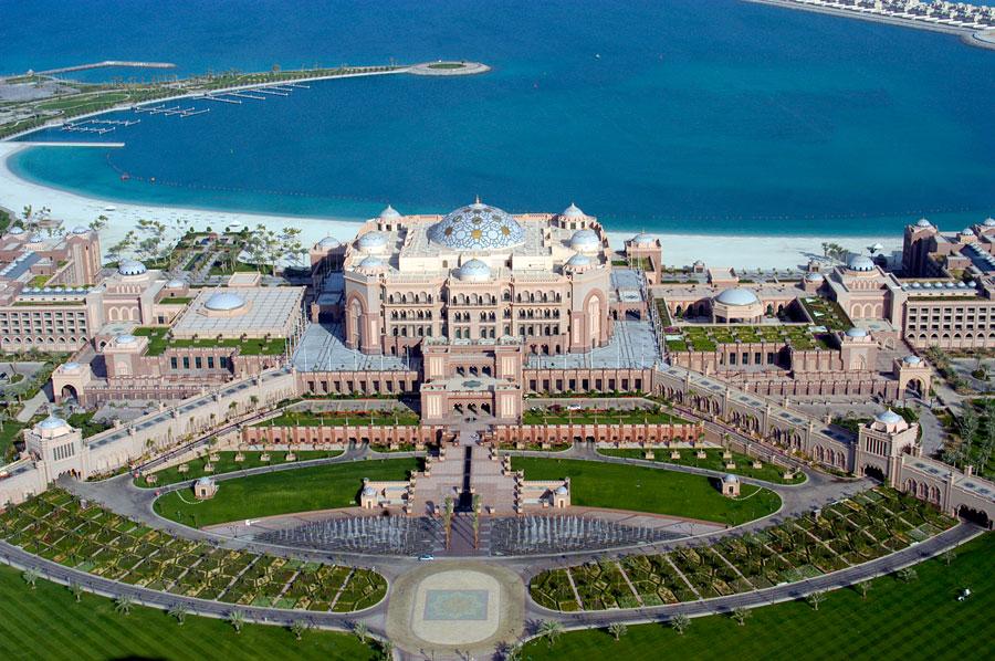 Esterno dell'hotel da sogno Emirates Palace