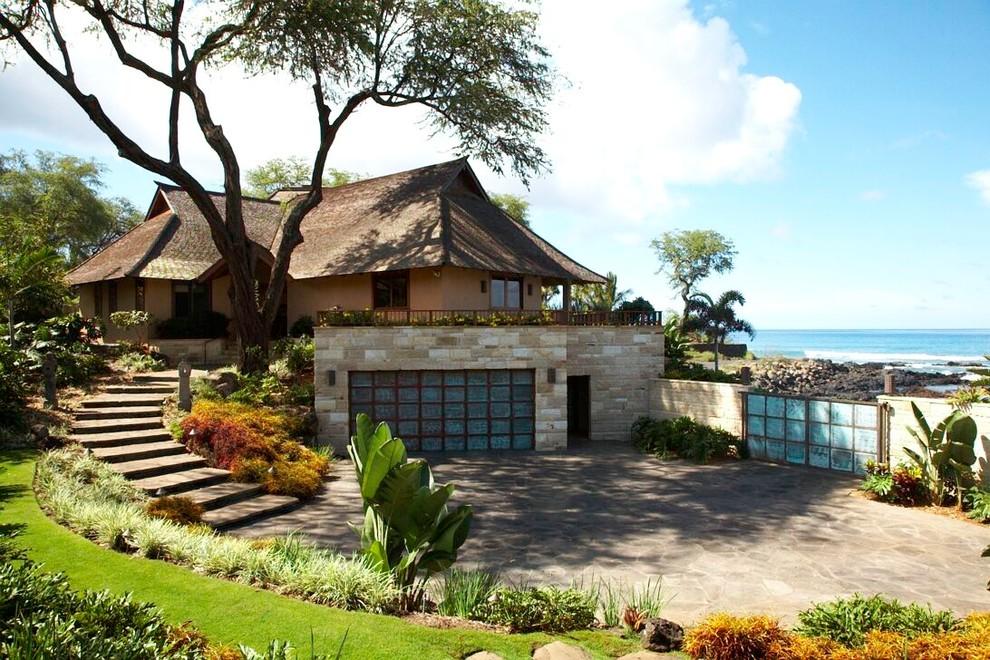 Facciate ed esterni di case moderne dal design asiatico for Le case design