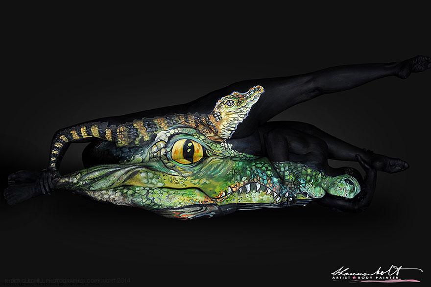 Body painting dedicato agli animali n.02