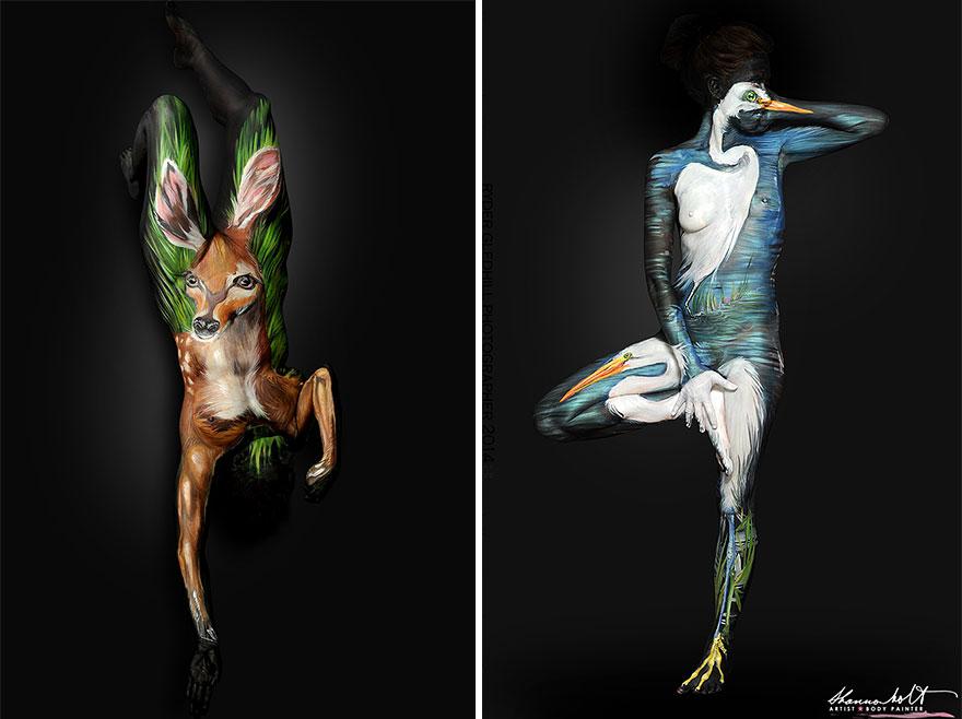 Body painting dedicato agli animali n.04