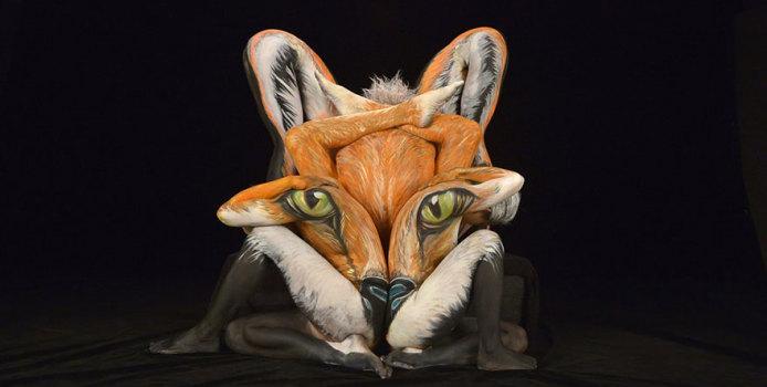 Body Painting: Foto Stupende di Umani Trasformati in Animali
