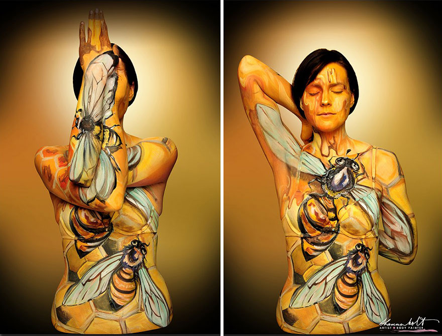 Body painting dedicato agli animali n.6
