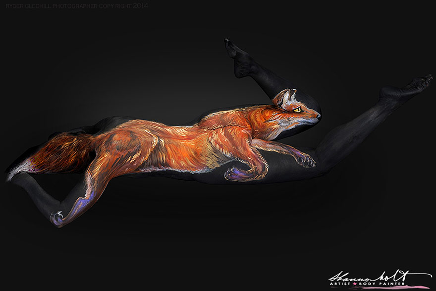Body painting dedicato agli animali n.7
