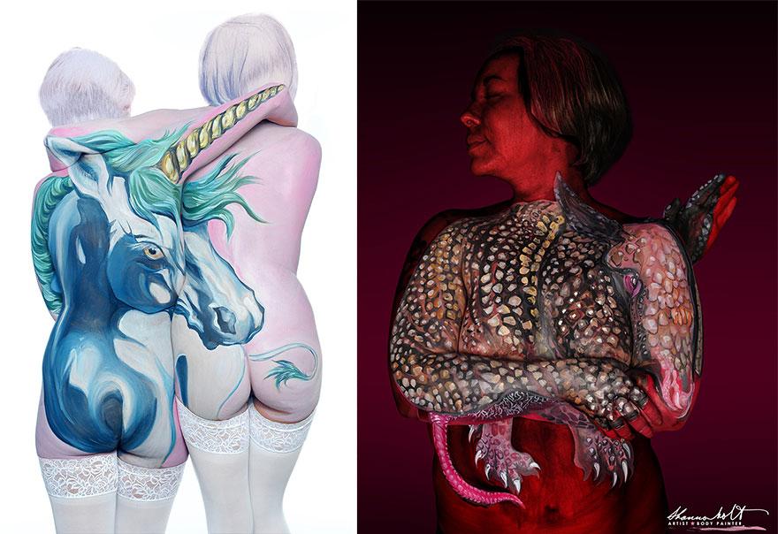 Body painting dedicato agli animali n.8
