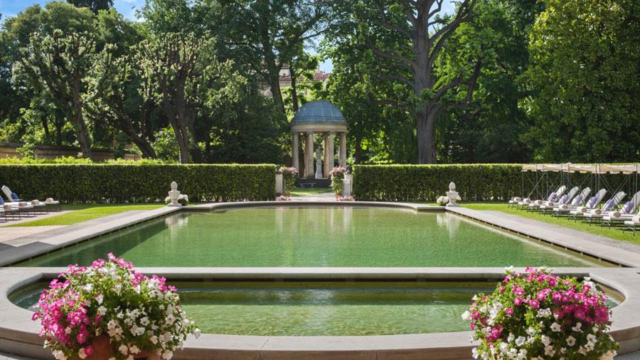 Giardino privato del Four Season Hotel Firenze