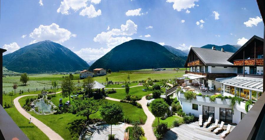 Vista panoramica dal Garberhof Beauty Wellness Resort