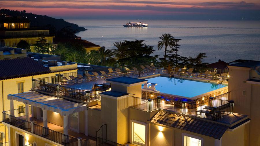Vista panoramica del Grand Hotel La Favorita
