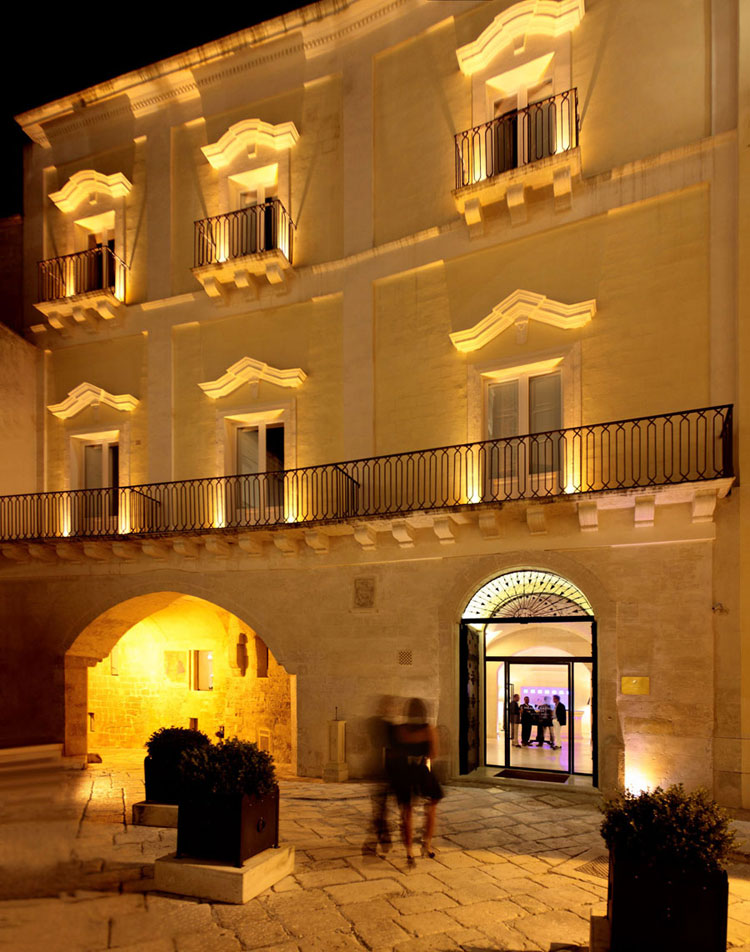 Esterno dell'hotel di lusso Palazzo Gattini