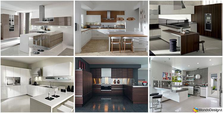 Cucine Moderne In Poco Spazio.50 Foto Di Cucine Moderne Con Penisola Mondodesign It