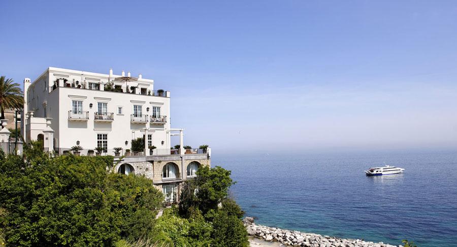 Esterno dell'hotel di lusso JK Place a Capri