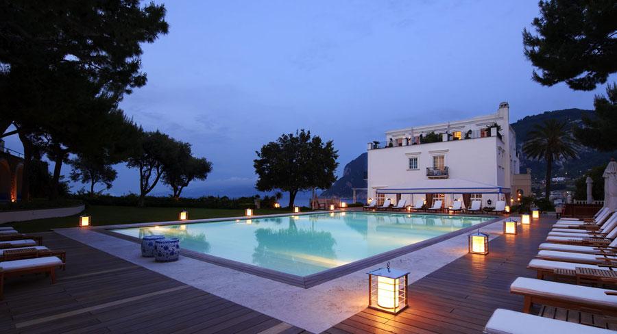 Piscina dell'hotel di lusso JK Place a Capri