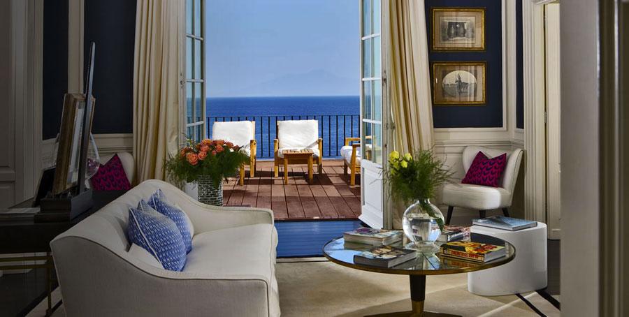 Camera dell'hotel di lusso JK Place a Capri