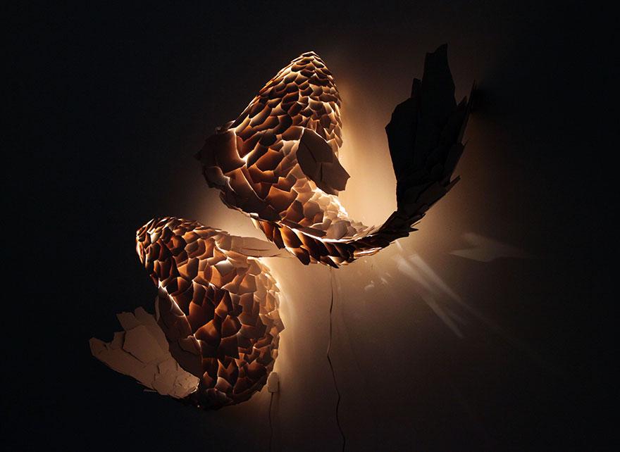 Foto della lampada a forma di pesci n.01