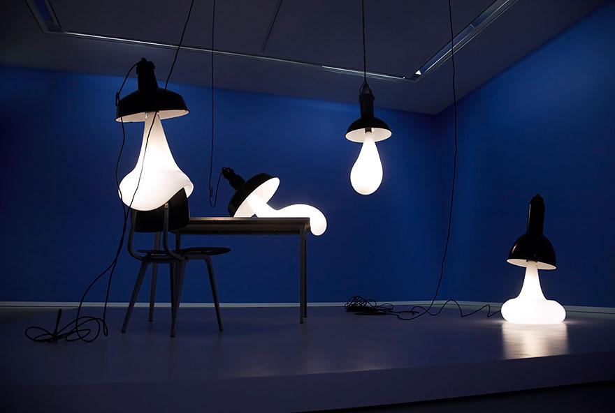 Foto dei lampadari blob n.01