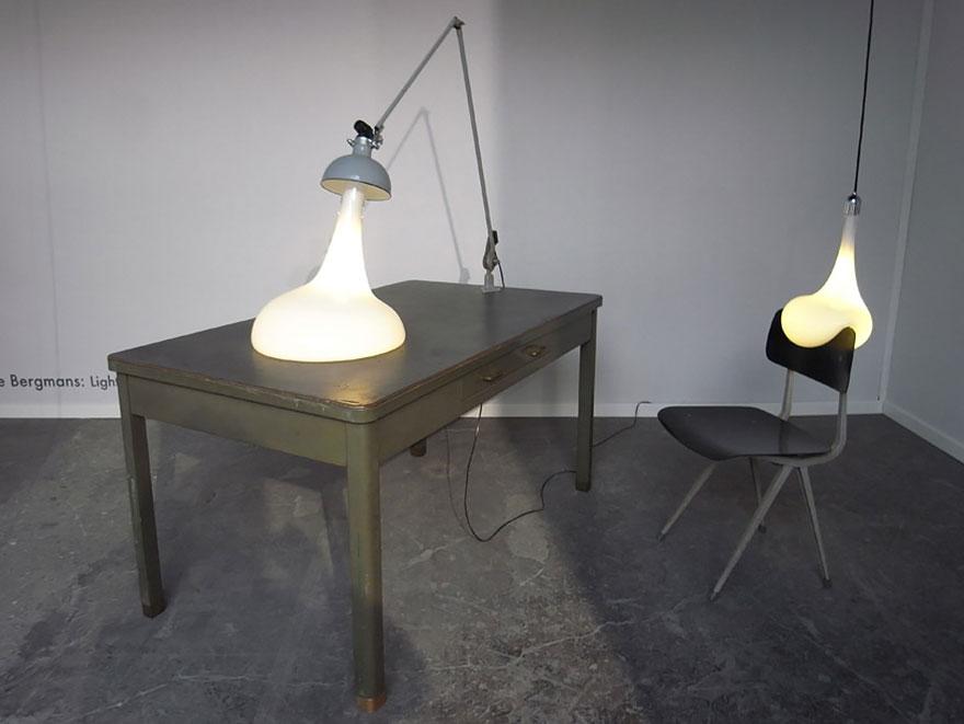 Foto dei lampadari blob n.02
