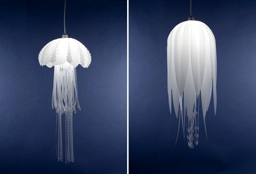 Foto dei lampadari a forma di meduse n.01