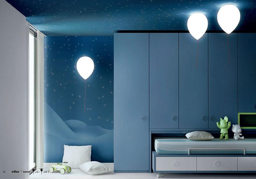 Foto dei lampadari a forma di palloncino