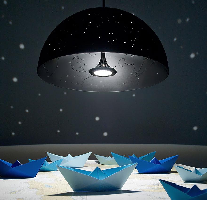 Foto del lampadario che riproduce le costellazioni n.01