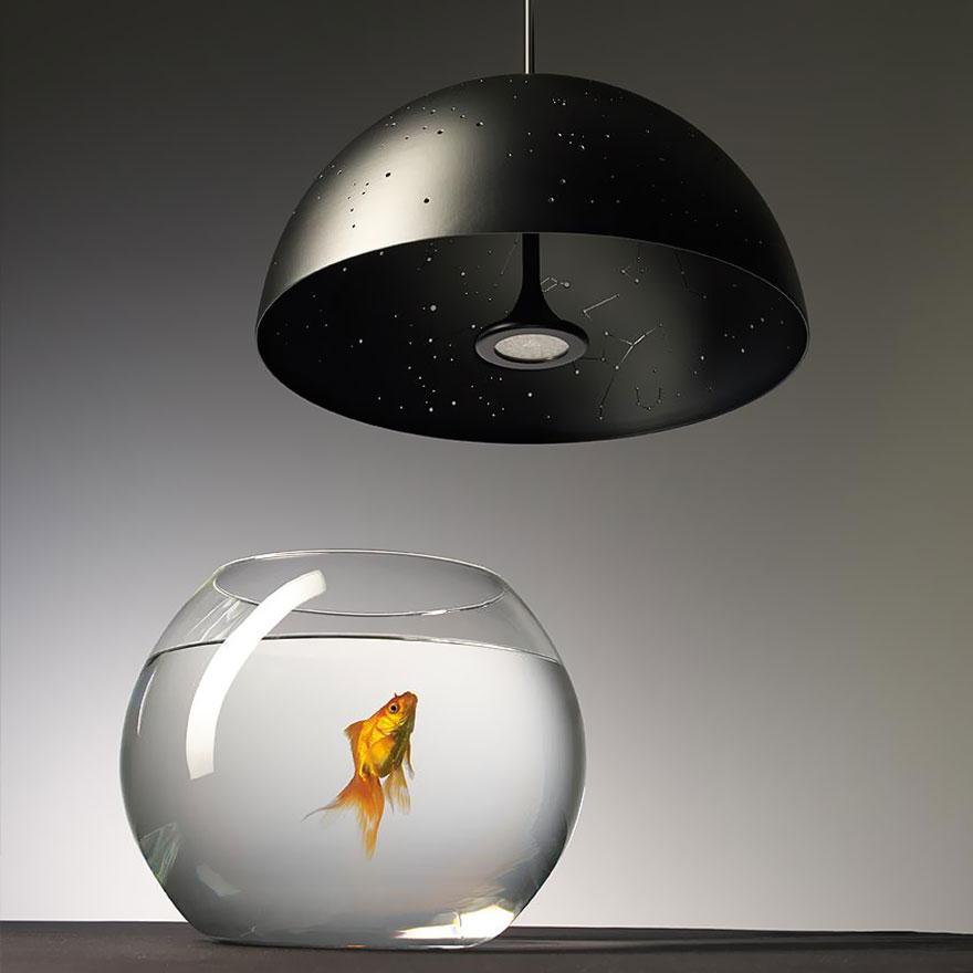 Foto del lampadario che riproduce le costellazioni n.02