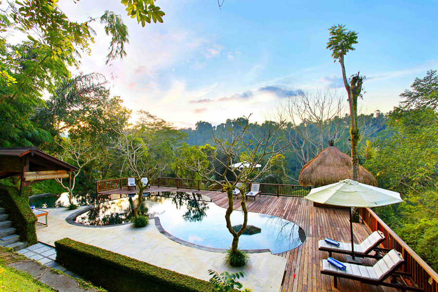 Foto della piscina dell'hotel Nandini a Bali