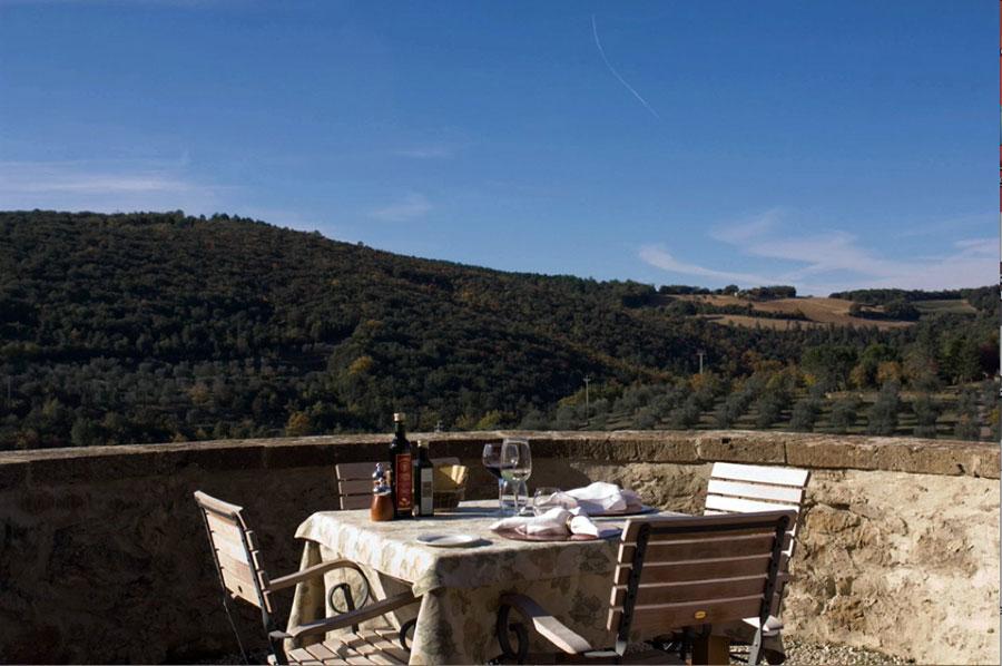 Particolare della vista dall'hotel di lusso Palazzo Brandano