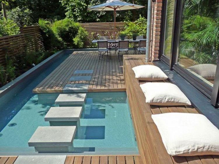 50 foto di piccole piscine interrate per piccoli giardini - Piccola piscina ...