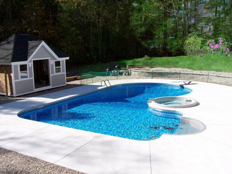 50 foto di piccole piscine interrate per piccoli giardini