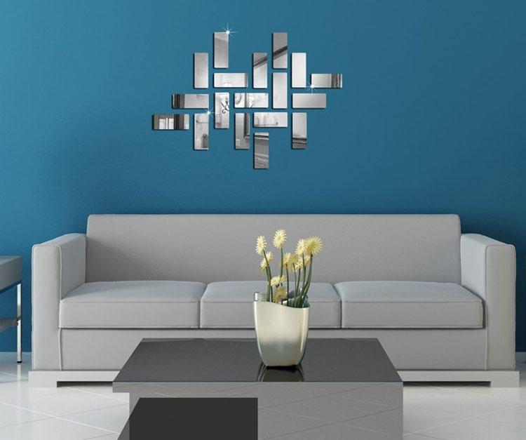 Specchi adesivi decorativi per pareti dal design - Specchi da parete di design ...