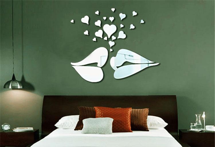 Specchi adesivi decorativi per pareti dal design - Adesivi parete camera da letto ...