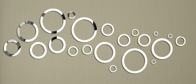 Specchi adesivi decorativi per pareti dal design particolare - Decorazioni pareti ikea ...