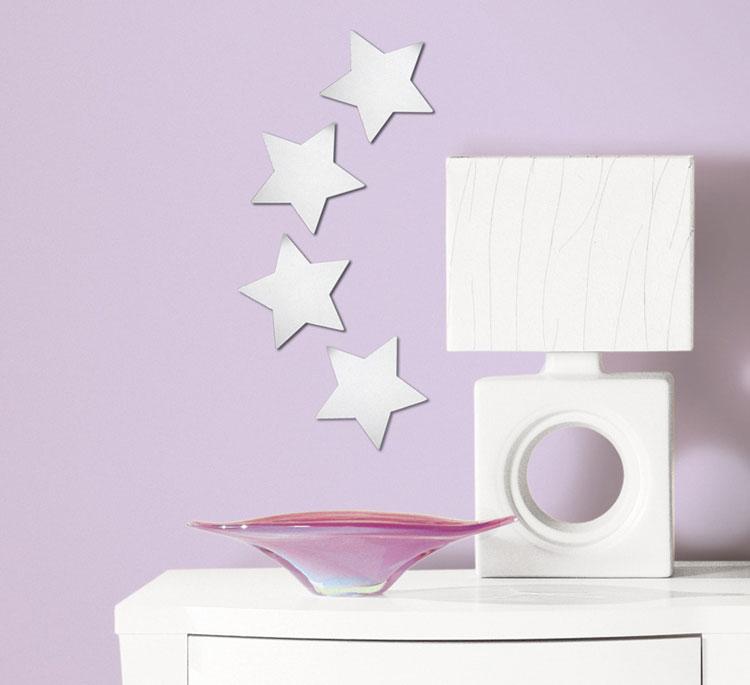 Specchi adesivi decorativi per pareti dal design particolare - Specchio adesivo ikea ...