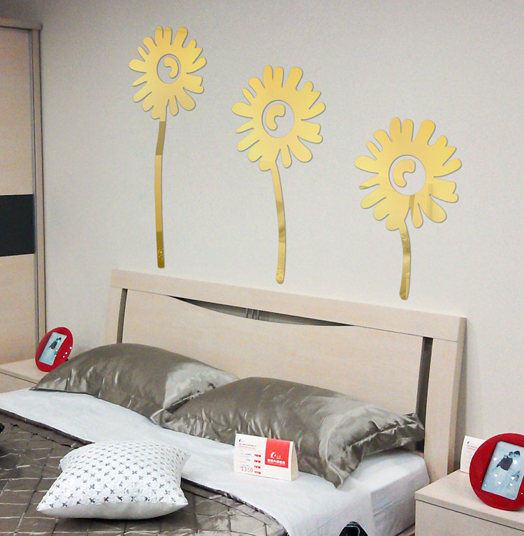 Specchi adesivi decorativi per pareti dal design particolare - Specchi adesivi per pareti ...