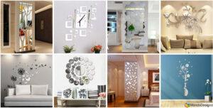 50 specchi adesivi decorativi per pareti dal design for Brico adesivi pareti