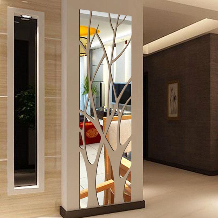 Modello di specchio adesivo decorativo n.31