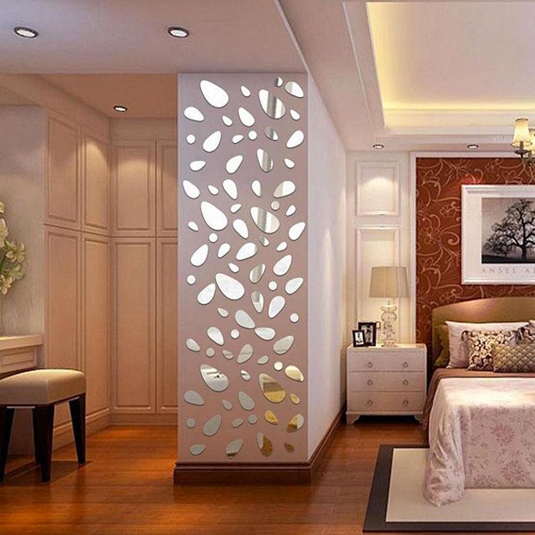 50 specchi adesivi decorativi per pareti dal design - Specchi adesivi da parete ...