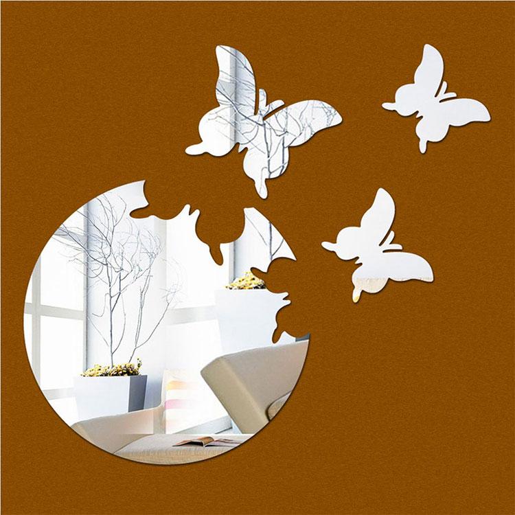 Modello di specchio adesivo decorativo n.38