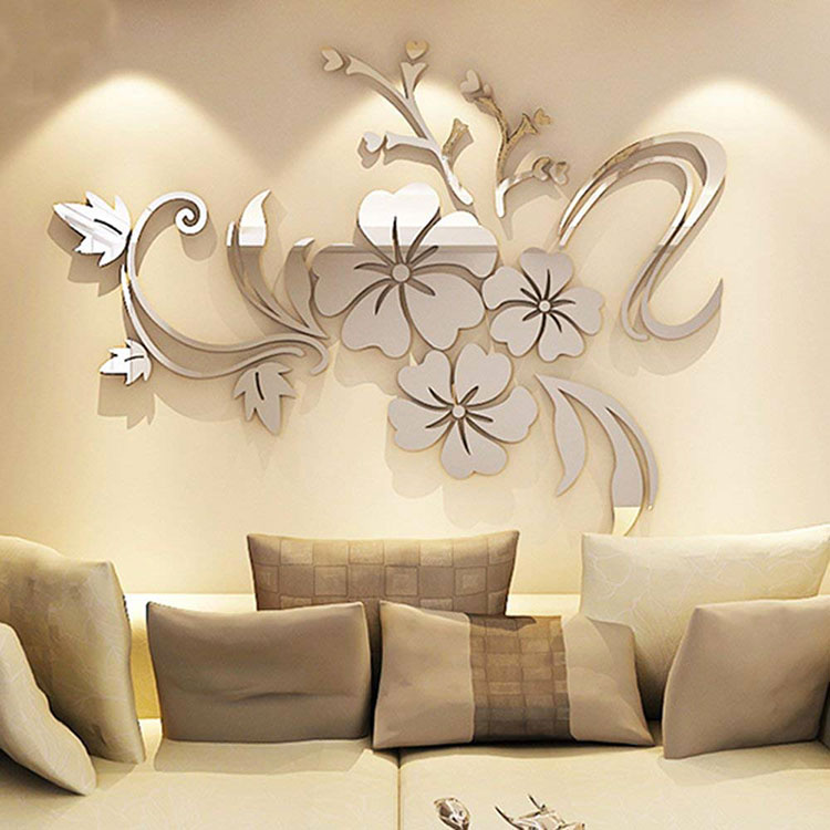 50 specchi adesivi decorativi per pareti dal design for Adesivi per pareti