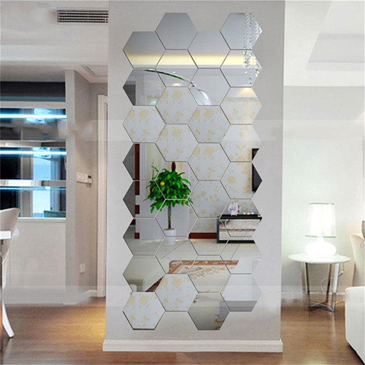 Modello di specchio adesivo decorativo n.48