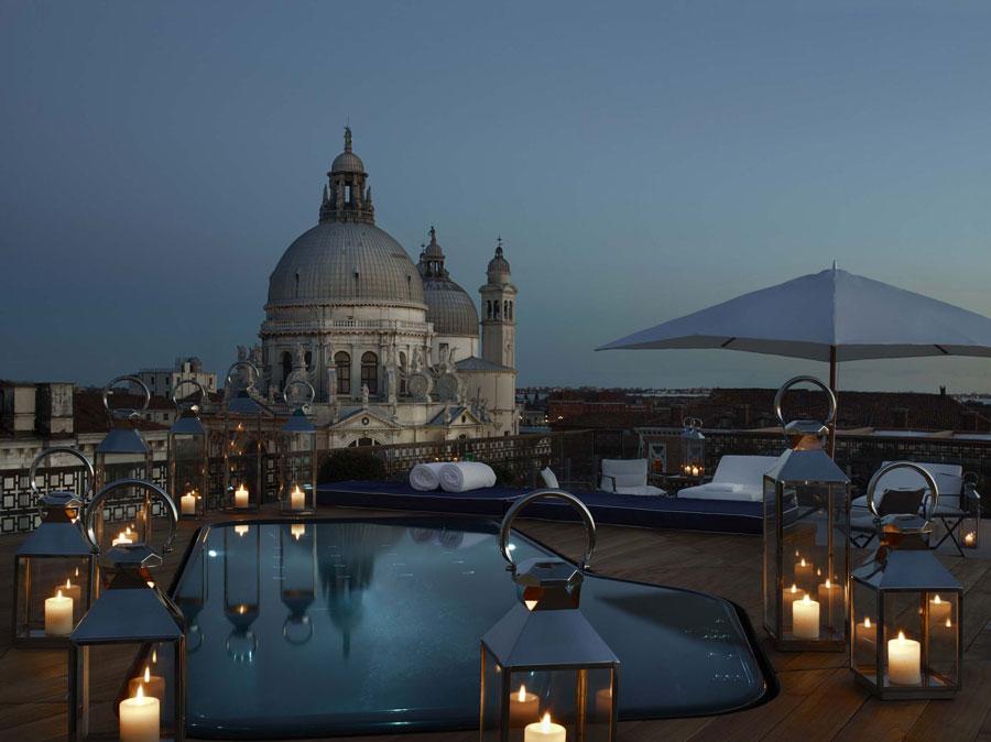 Piscina dell'hotel di lusso The Gritti Palace